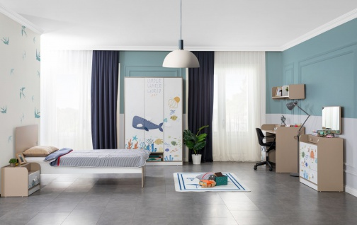 Titi Kinderzimmer Set Ocean 5-teilig Einzelbett