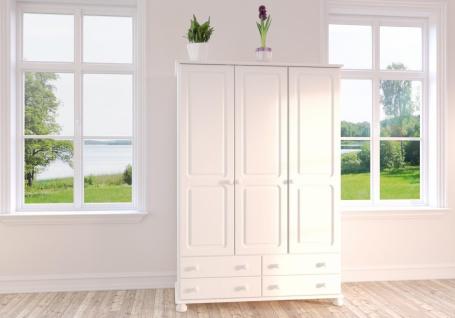 Kleiderschrank in Weiß Camille 3-türig 129x185x57