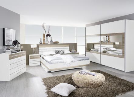 Komplett-Schlafzimmer TARRAGONA (4-teilig) alpinweiß / Eiche Sanremo