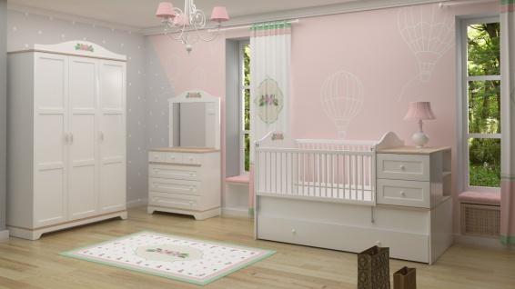 Komplettes Babyzimmer Set Bianca Weiß