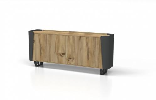Büro Sideboard Balon Holz Optik 4-türig