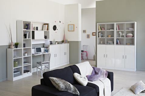 Parisot Sophia Regalsystem in Weiß 7-teilig