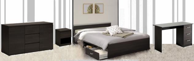 Parisot Alpha Schlafzimmer Set 4-teilig mittelgroß