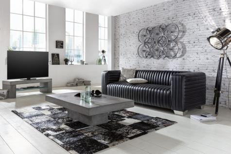 couchtisch camant 80x80 aus beton mit schwarz kaufen bei m bel lux. Black Bedroom Furniture Sets. Home Design Ideas