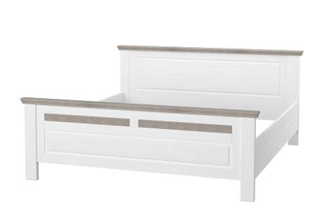 Schlafzimmerbett Leopold in Weiß 160x200