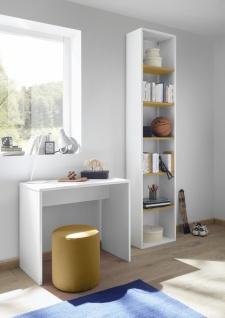 Design Anstellregal mit fünf Böden Gelb Space