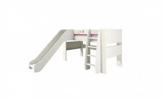Kinderhochbett mit Rutsche Rosalia 80x190