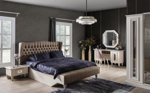 Weltew Schlafzimmer Set 160x200 cm Nirvana Creme