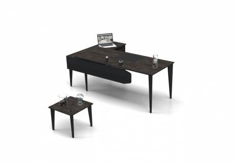 Design Schreibtisch Snap in L-Form 180x80