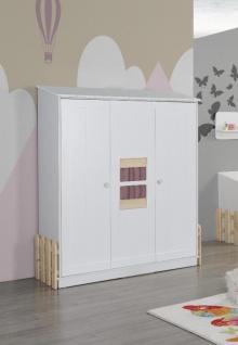 Babyzimmer Set Weiß Rosa Homeland 4-teilig - Vorschau 2