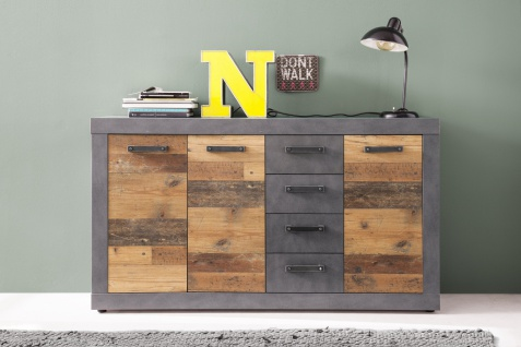 Sideboard India Old Wood Optik