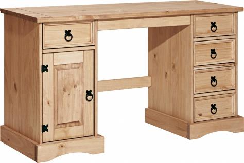 Schreibtisch Johny 140x48 Pinie massiv Honig