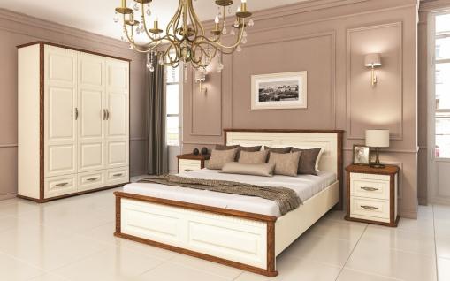 Schlafzimmer Set in Creme Eiche Optik Marcel 4-teilig