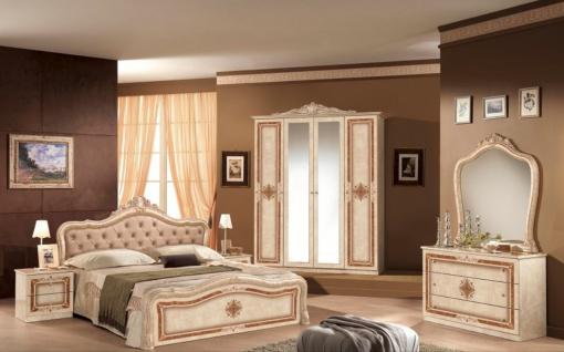 Schlafzimmer in Beige Christina mit 4-türigem Schrank