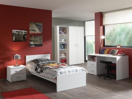 Jugendzimmer Set Pinja 5-teilig in Weiß