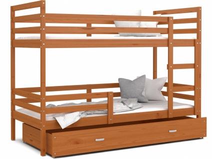 Etagenbett mit Bettkasten Erle massiv Rico 90x200
