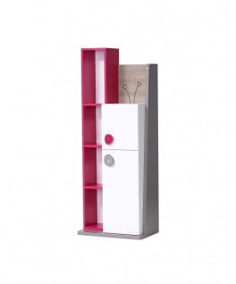 Bücherregal in Weiß Pink Sweety 2-türig