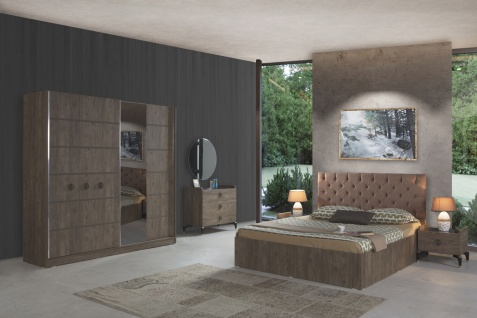 Schlafzimmer Set Soho Wood 6-teilig in Walnuss Optik