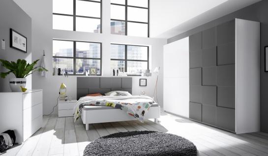 Schlafzimmer Set in Anthrazit Ottea 4-teilig 180x200