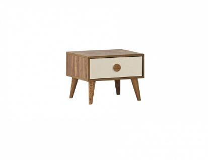 Nachttisch in Holz Optik Beige Retro Trend