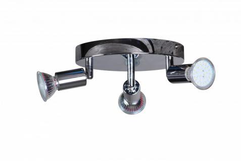 3er LED-Strahler Deckenlampe Rondell Spotsystem LED Wandlampe Lampe Spot (EEK: A+) - Vorschau 3
