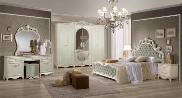 Italien Schlafzimmer Weiß Agate mit 4-türigem Schrank