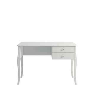 Schreibtisch in Weiß Charming im Romantik Stil - Vorschau
