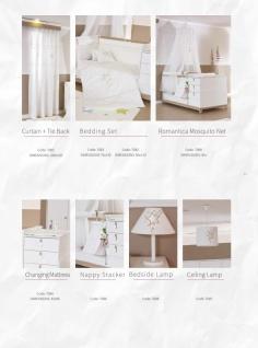 Babybett in Holz Optik Weiß Star Stern 70x130 - Vorschau 3