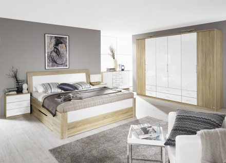 Komplett-Schlafzimmer ARONA (4-teilig) versch. Bett- & Schrankgrößen