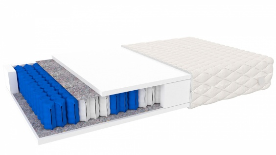 Tonnentaschenfederkern Matratze Trevisio 160x200