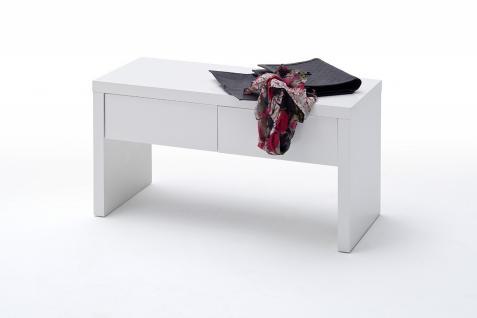 Schuhbank Aila in Weiß Hochglanz mit Schubfächern