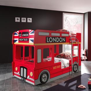 Autobett Bus-Etagenbett London Bus mit Leiter