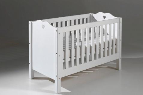 Babybett Albin 60x120cm in Weiß MDF