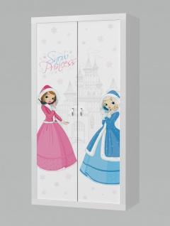 Kinder Kleiderschrank Phil Snow Princess 2-türig