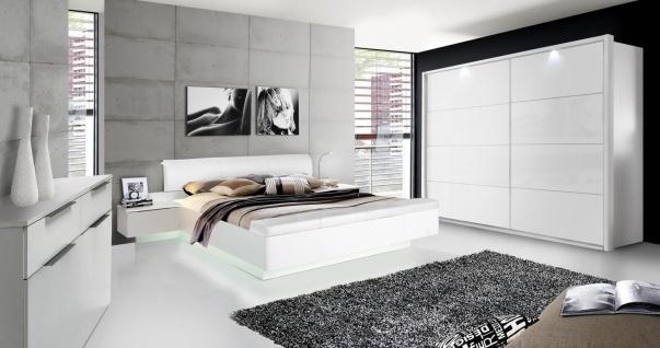 Schlafzimmer komplett Weiß Hochglanz Story 200cm