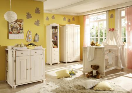 Baby Zimmer komplett Set Alessia Kiefer massiv Weiß
