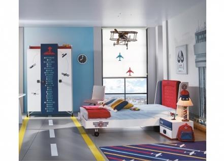 Kinderzimmer komplett Set Flugzeug Pilot 3-teilig