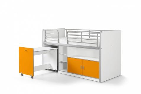 Bonny Hochbett 90x200 mit Schreibtisch Orange