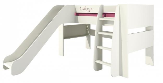 Kinderhochbett mit Rutsche Sakura 80x190
