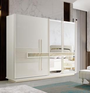 Großer Kleiderschrank Pena mit Schwebetüren & Spiegel