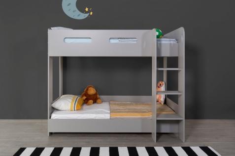 Home Way Etagenbett Flexy 90x190 cm in Grau MDF