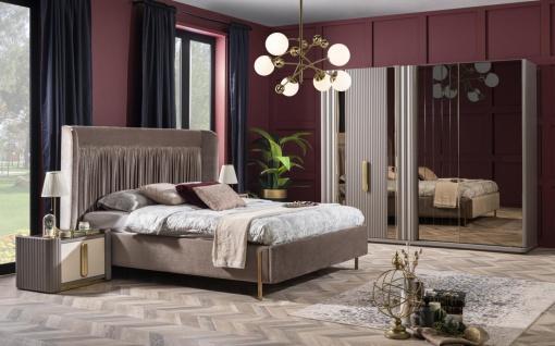 Weltew Schlafzimmer Set Florya 4-teilig 180x200 cm