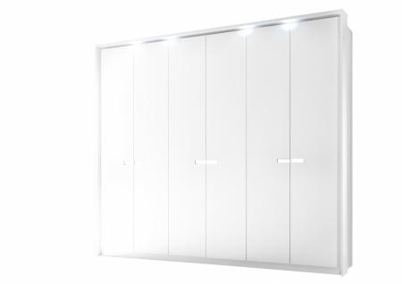 Meer 6-türiger Schrank 275 x 240 x 64 Weiß-Weiß Matt