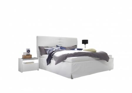 Bett Kunstleder Weiß Full Luana 160x200