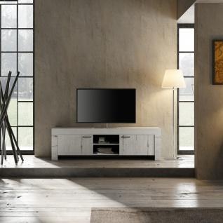 Design TV Schrank in Weiß Eiche Grace 2-türig