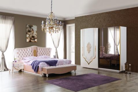 Barock Schlafzimmer Weiß / Gold Annelore 5-tlg
