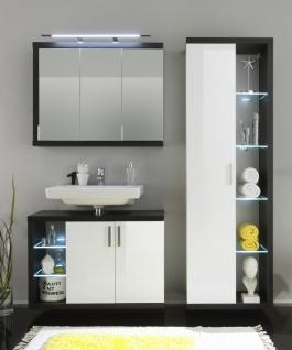 Badezimmer Set Bino 3-teilig in Weiß Grau