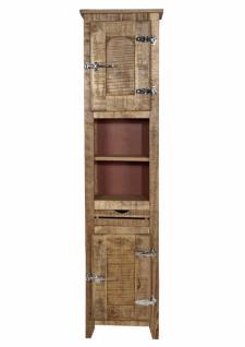 Hochschrank Badio mit 2 Türen aus Mangoholz massiv