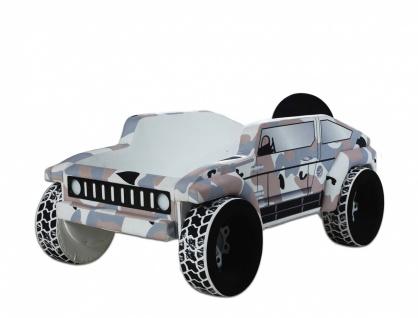 Autobett Jeep Braun mit Sound Scheinwerfern 90x190