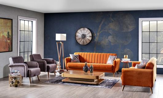 Sofa Set Maya 4-teilig mit Schlafsofa & Sessel